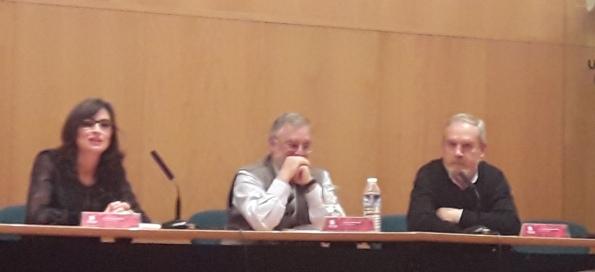 Delia Gavela, Ignacio Arellano y Francisco Domínguez Matito